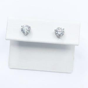 1.40 carats total diamond studs