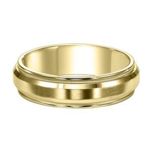 Brushed Domed Wedding Band
