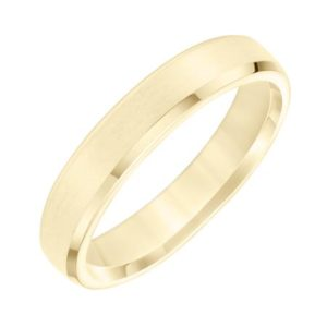 Beveled Edge Comfort Fit Wedding Band