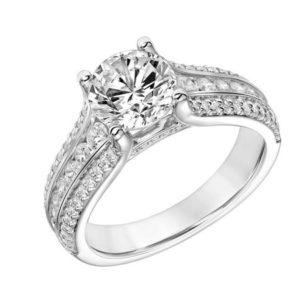 Ornate Diamond Engagement Ring
