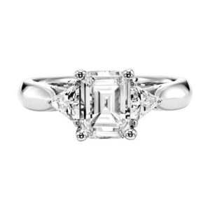 Contemporary Three Stone Engagement Ring
