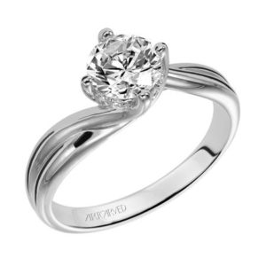 """Whitney"" Twisted Bypass Engagement Ring"