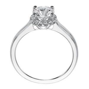 """Allison"" Halo Engagement Ring"