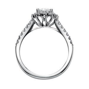 """Megan"" Diamond Halo Engagement Ring"