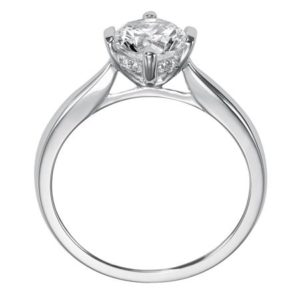 """""""Nancy"""" Cathedral Solitaire Engagement Ring"""