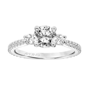 """Jill"" Three Stone Engagement Ring"