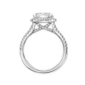 """""""Paige"""" Oval East-West Halo Engagement Ring"""
