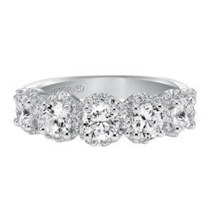 Diamond Halo Anniversary Ring