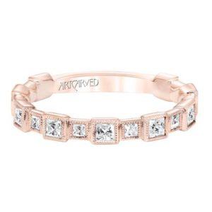 Princess Cut Diamond Stackable Ring
