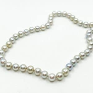 7 mm Gray Cultured Pearl Strand 18″