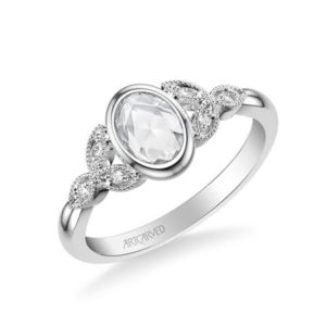 Bezel Set Rose Cut Diamond Engagement Ring