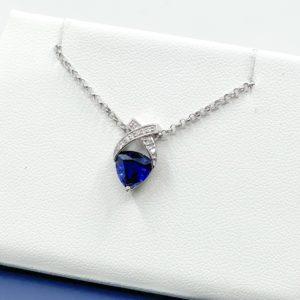 Lab Grown Sapphire Pendant